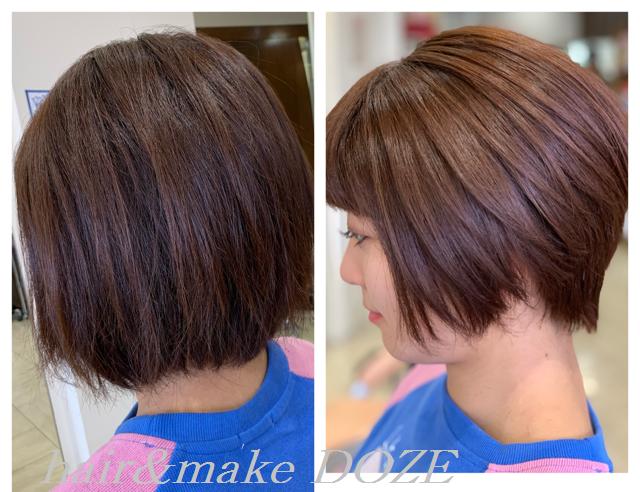 ショートだって髪質改善の効果、しっかり感じます!!!