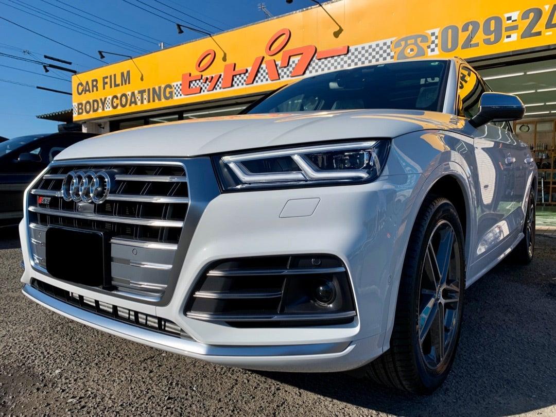 アウディ S Q5 新車 リアルガラスコート艶プラス施工