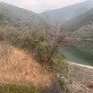 河内溜池のダムの草刈り、下関市大字福江