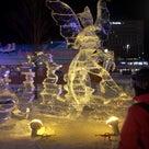 ファットバイクと氷の彫刻&打上げ花火の記事より