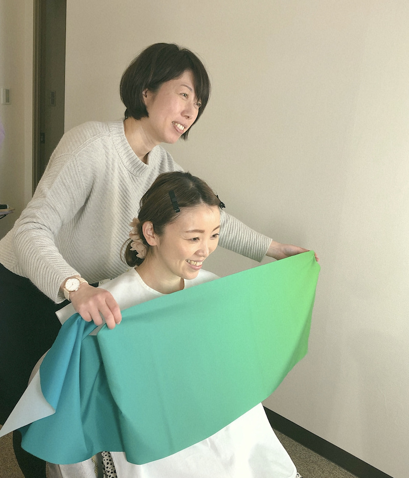 札幌市パーソナルカラー診断 グラデーションカラースケール