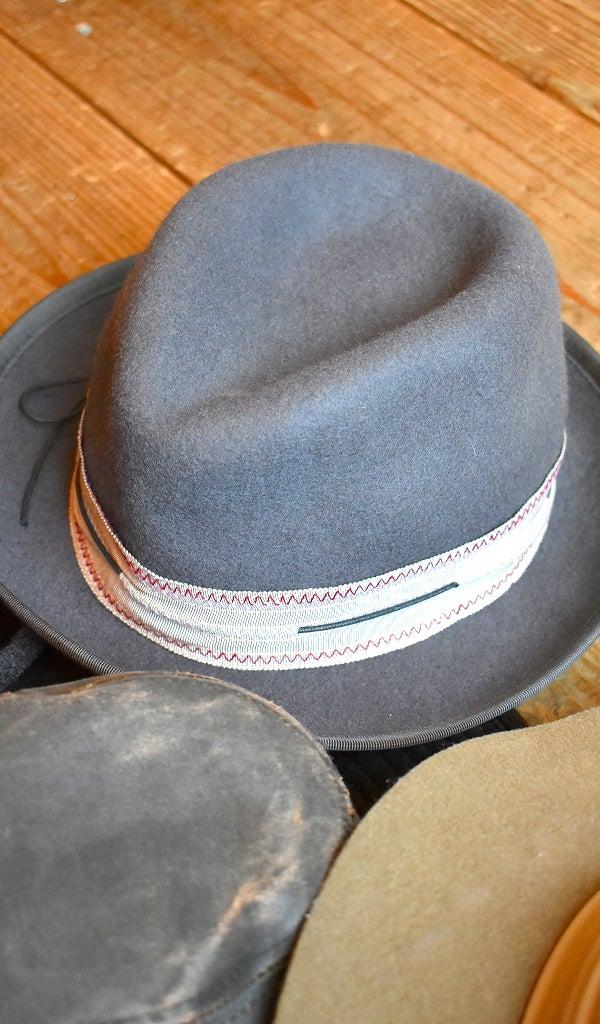 フェルト帽子ウールツイードハット古着屋カチカチ