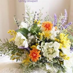 画像 インテリアにもなる春の花嫁さまブーケ の記事より 3つ目