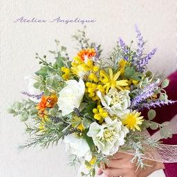 画像 インテリアにもなる春の花嫁さまブーケ の記事より 2つ目