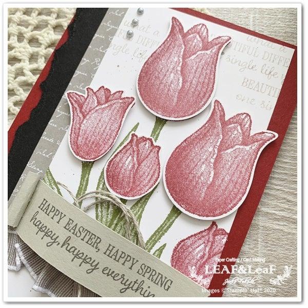 春を彩る2枚のカード / クラフトinカフェ(対面クラス)3月詳細の記事より