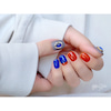 【鮮やか】ブルーナっぽ北欧カラーのショートネイルの画像