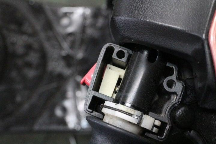 JOG セルスタータースイッチ接点修理