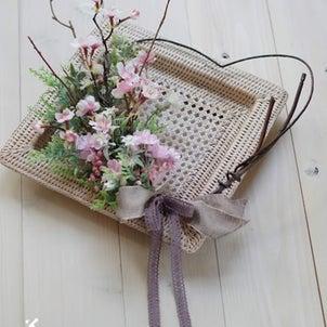 【募集/1Dayレッスン】今年も桜はじめました♪桜ブーケのリースと桜ぼうるの画像