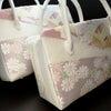 準礼装用和装バッグ2020|利休バッグ八寸/九寸|松、菊、流水、紗綾形、正絹帯地使用のオリジナルの画像