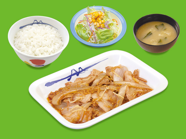 スタミナ豚バラ生姜焼定食