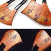 べっ甲藤螺鈿金蒔絵かんざし2020・2種|子孫繁栄、長寿の象徴、紫色に輝く螺鈿と朱色の金蒔絵とのの画像