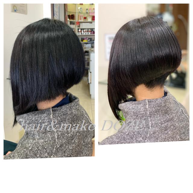 刈り上げスタイルでも毎回、髪質改善プレミアムトリートメント!