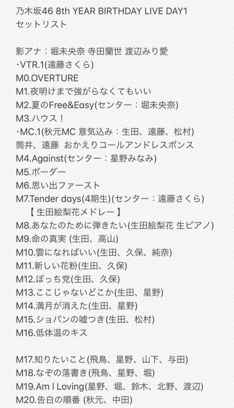 8th バスラ セトリ 【セトリ】乃木坂46 LIVE 2021-2022