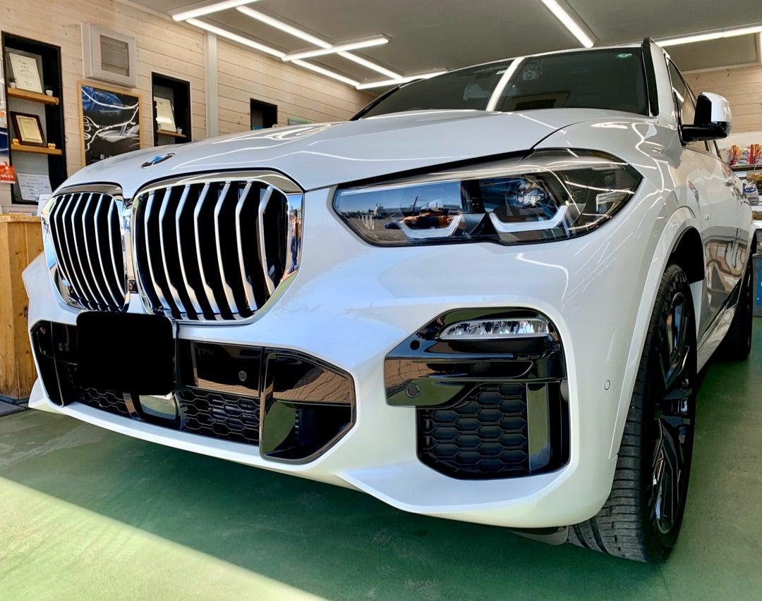 BMW X5 新車 ハイドロフィニッシュ 断熱フィルム アルミコーティング 全窓ガラス撥水加工