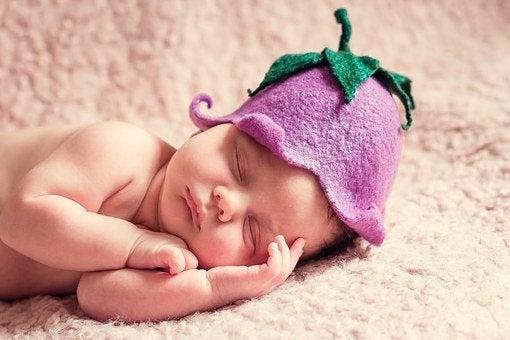 よく寝ている人の写真