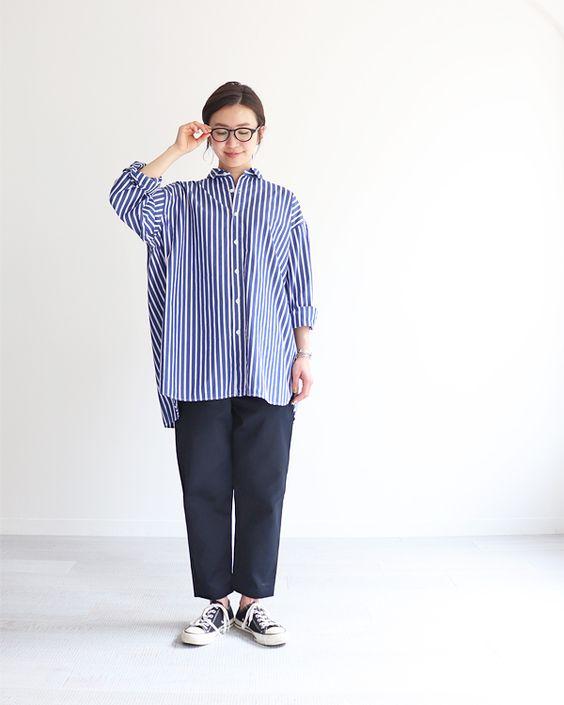 ストライプ シャツ コーデ 【2020秋】大人女子はストライプシャツできちんと見え♪お手本コーデ15...