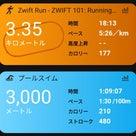 初めてのZWIFT Running&予定が全て白紙にの記事より