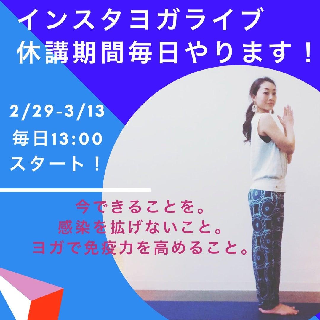 【インスタヨガライブ13:00スタート!】2/29-3/13毎日やります!の記事より
