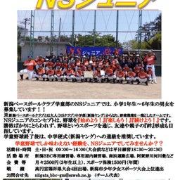 画像 学童野球チームNSジュニアからのお知らせ!! の記事より 4つ目