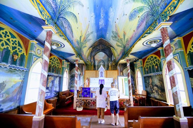 ペインティッド教会The Painted Church は写真撮影も車椅子も大丈夫です。