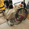 通学自転車の整備の画像