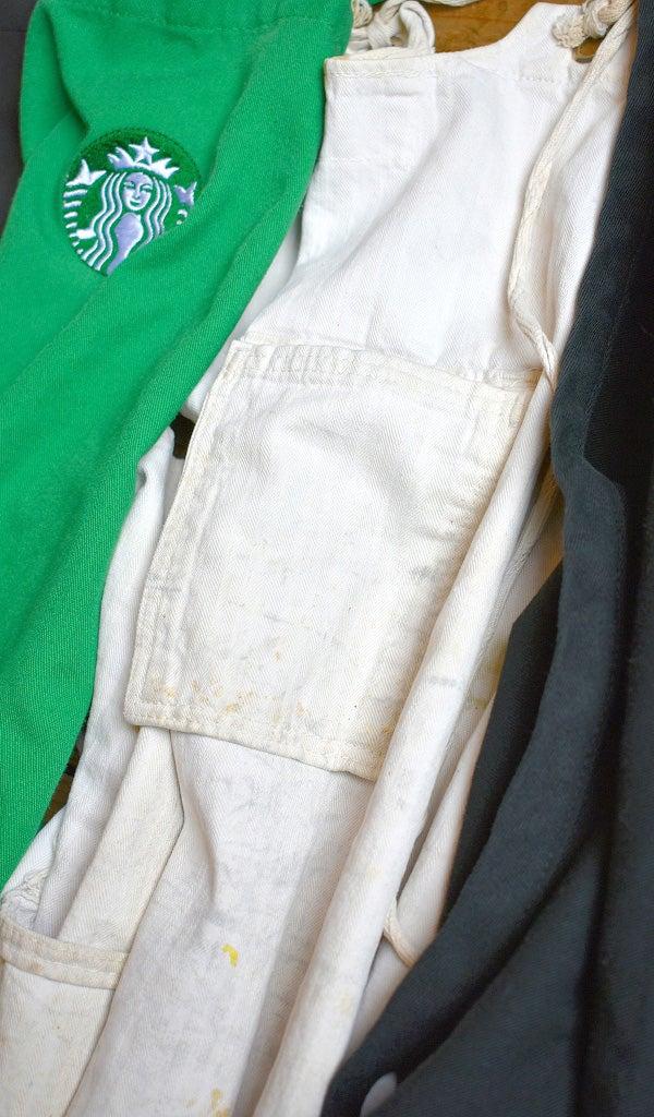 スターバックス緑エプロンAPRON古着屋カチカチ