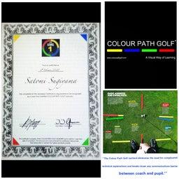 画像 クラブ軌道をもっと分かりやすく・・・ヨーロッパPGAプロ共同開発「カラーパスゴルフ」 の記事より 1つ目