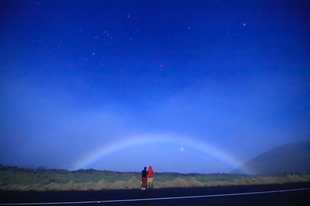 夜の虹ムーンボウ体験