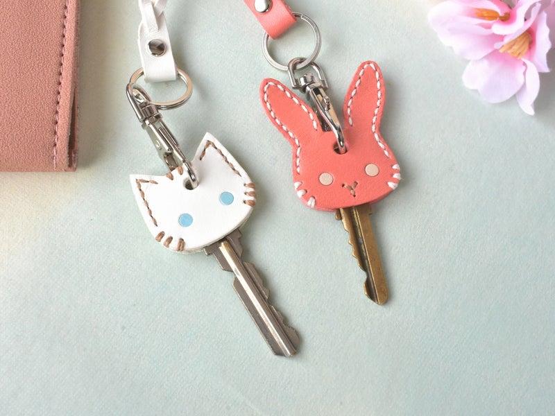 猫とウサギのキーカバー