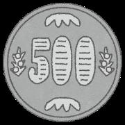 イタチは500円玉の穴やすき間で侵入します