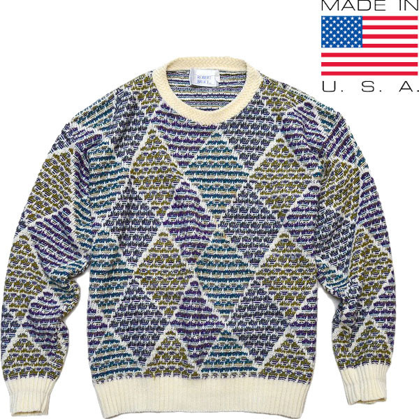 柄物ニットセーター画像@古着屋カチカチ