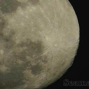 googleマップ登録と満月の画像
