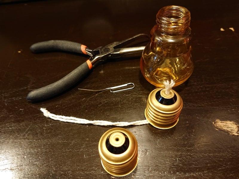 オイル ランプ 自作