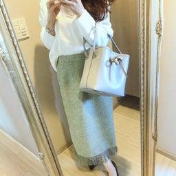 画像 目がいく春色green!3色目追加のプチプラスカート♡ の記事より 1つ目