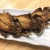 横浜市西区戸部町の市民酒場常磐木で揚げあじ開きとねぎチャーシュウと穴子天ぷらといか塩辛の画像