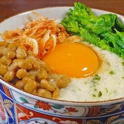 長芋と納豆 卵のせ 春のネバトロ丼