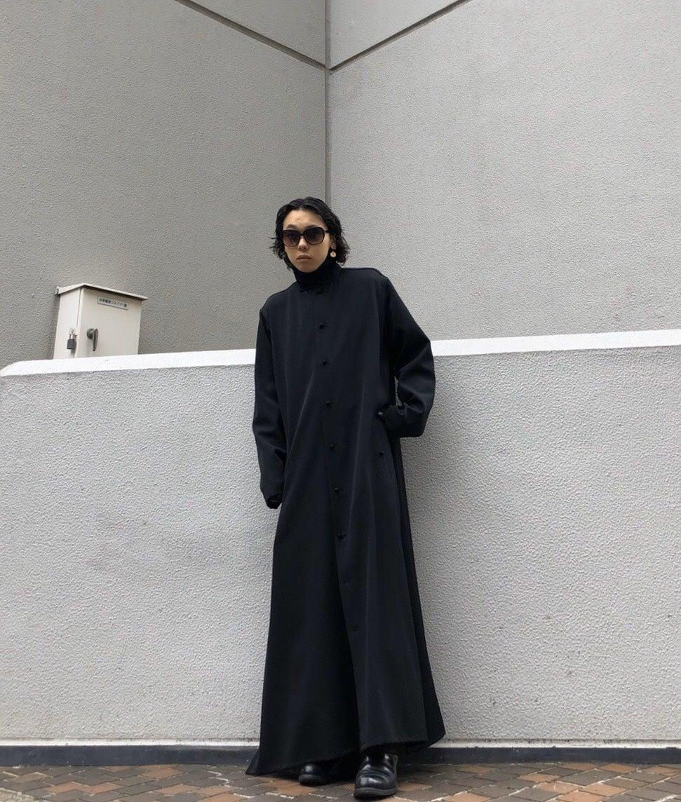 YOHJIYAMAMOTO N-Stand hem slit long dress shirt