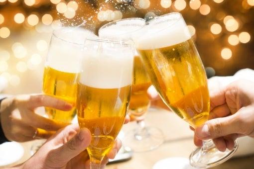 早く美味しいビールで乾杯を!