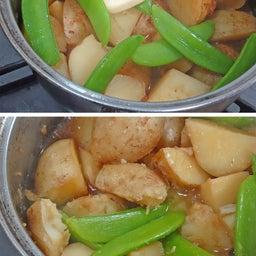 画像 2つの春野菜で簡単煮物  ホクホク!新じゃがとスナップエンドウのおかか煮 の記事より 13つ目