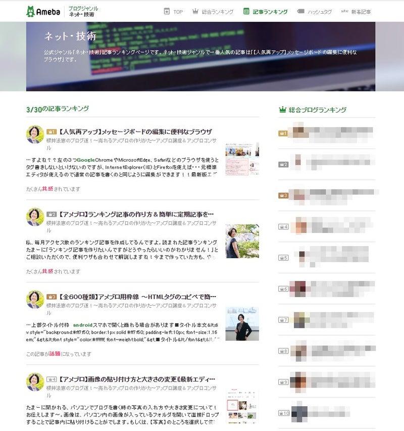 ランキング アメーバ ブログ