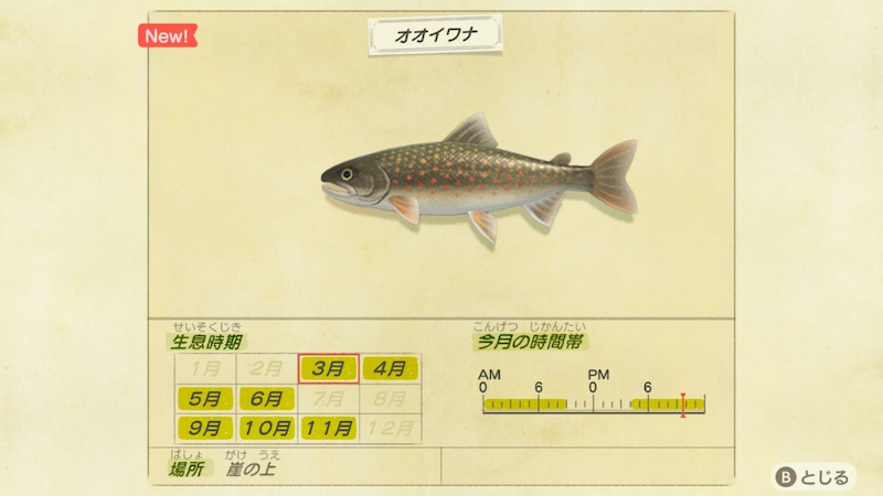 南半球 あつ 森魚 【あつ森】3月の魚一覧 値段と出現時間・場所【あつまれどうぶつの森】