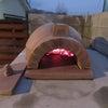 窯でピザを焼くの画像