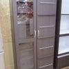 ♻️収納家具♻️☞NITORI ディスプレイ書棚☞ユーアイ キャビネット☞コンパクト ミニ食器棚の画像