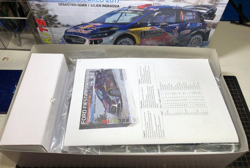 ベルキット フィエスタRS WRC2017の箱の中身