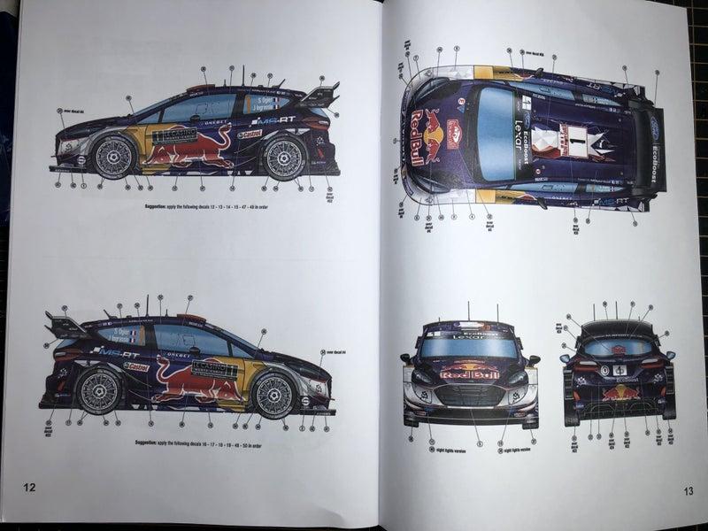 ベルキット フィエスタRS WRC2017の説明書(インスト)のデカール貼り付け指示