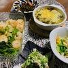 レンジとオーブン酷使の晩ご飯の画像