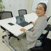 広島の先生とオンライン研修会の練習!淡グレー着物に青鈍色角唐草文の帯で