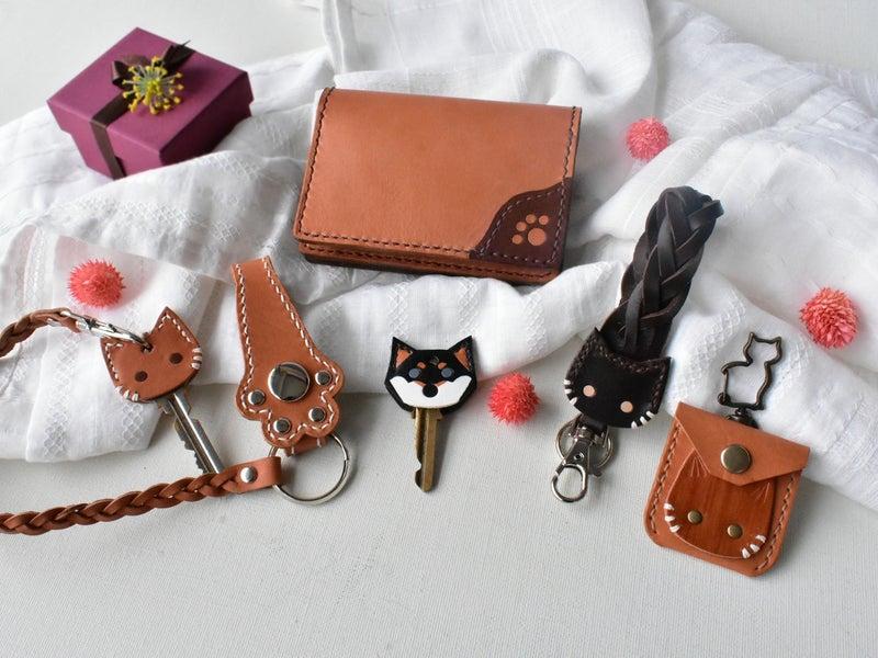 猫の革小物色々