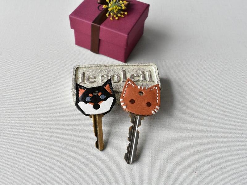 猫キーカバー&黒柴犬のキーカバー