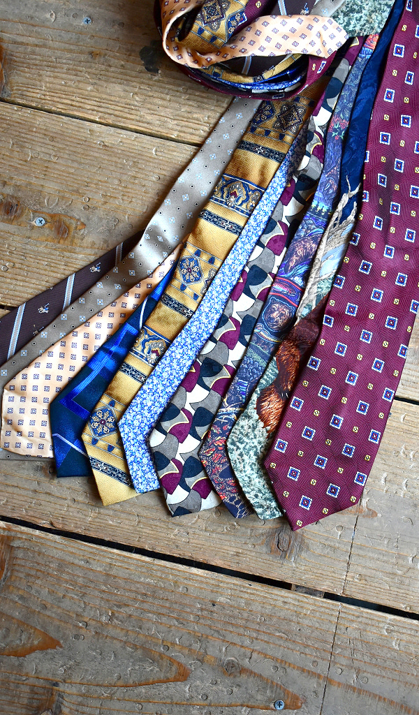 おしゃれ柄物ネクタイスカーフ@古着屋カチカチ